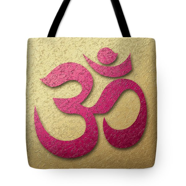 Aum Or Om Symbol Tote Bag by Cristina-Velina Ion