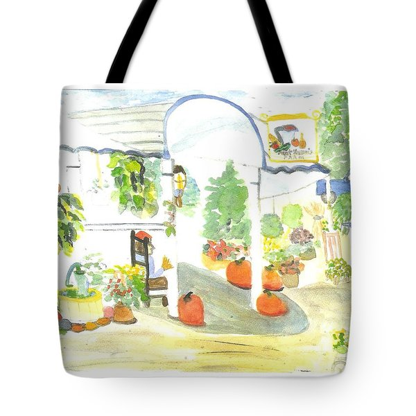 Aunt Helen's Farm Tote Bag by Thelma Harcum