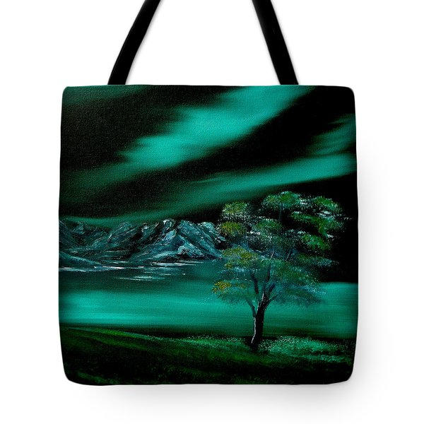 Aurora Borealis In Oils. Tote Bag by Cynthia Adams