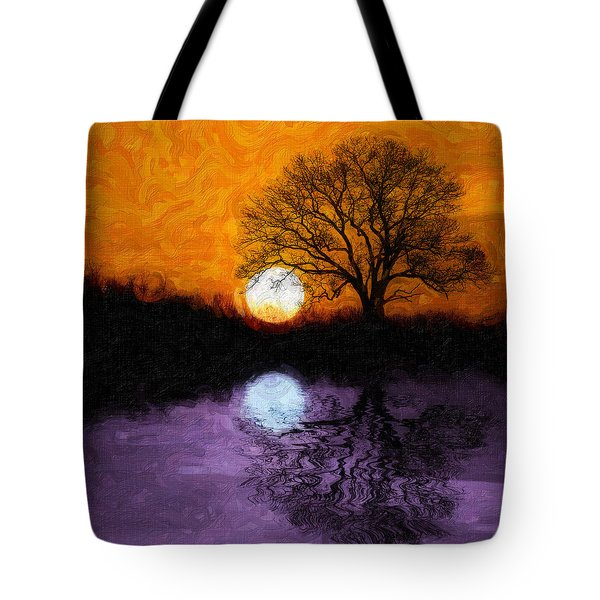 Aurora Goddess Of The Dawn Tote Bag by Tom Mc Nemar
