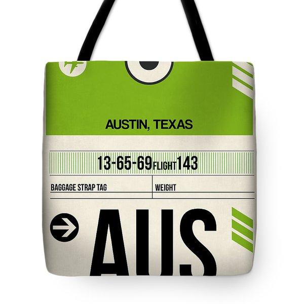 Austin Airport Poster 1 Tote Bag by Naxart Studio
