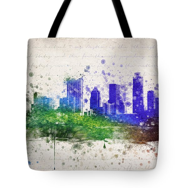 Austin In Color Tote Bag by Aged Pixel