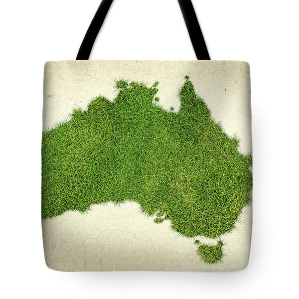 Australia Grass Map Tote Bag by Aged Pixel