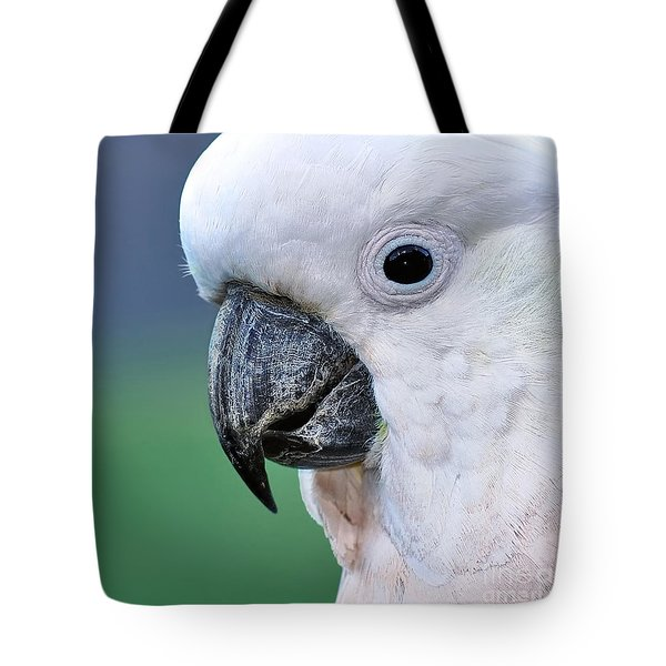 Australian Birds - Cockatoo Up Close Tote Bag by Kaye Menner