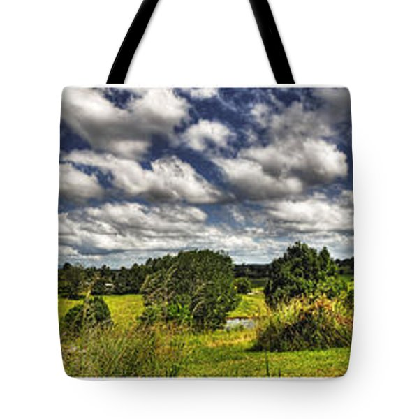 Australian Countryside - Floating Clouds Collage Tote Bag by Kaye Menner
