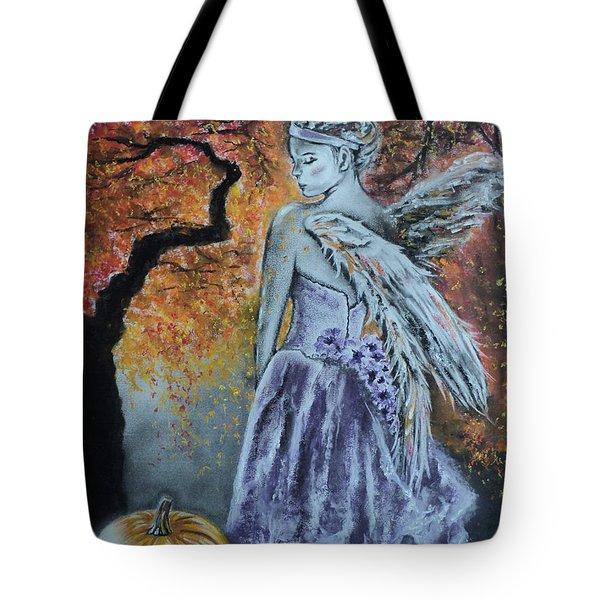 Autumn Angel Tote Bag by Carla Carson