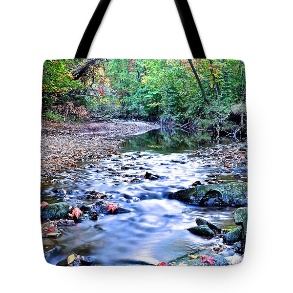 Autumn Arrives Tote Bag by Frozen in Time Fine Art Photography