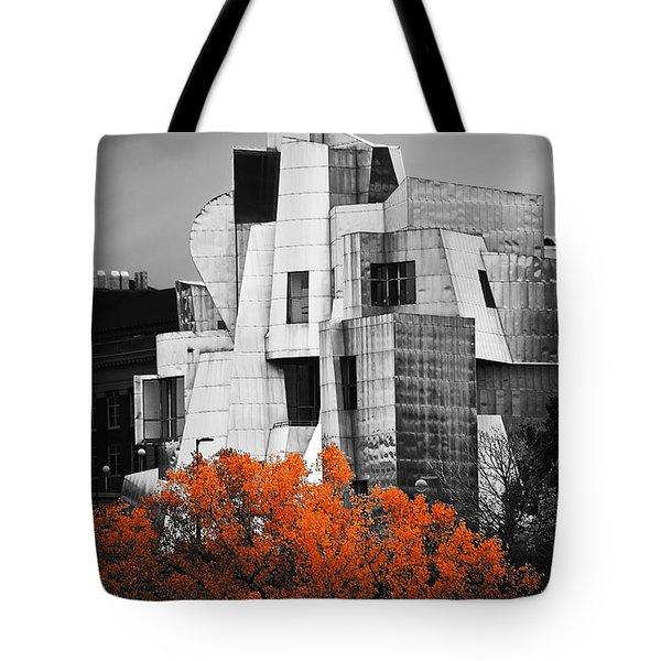 autumn at the Weisman Tote Bag by Matthew Blum