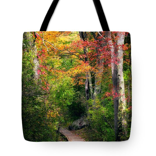 Autumn Boardwalk Tote Bag by Bill  Wakeley