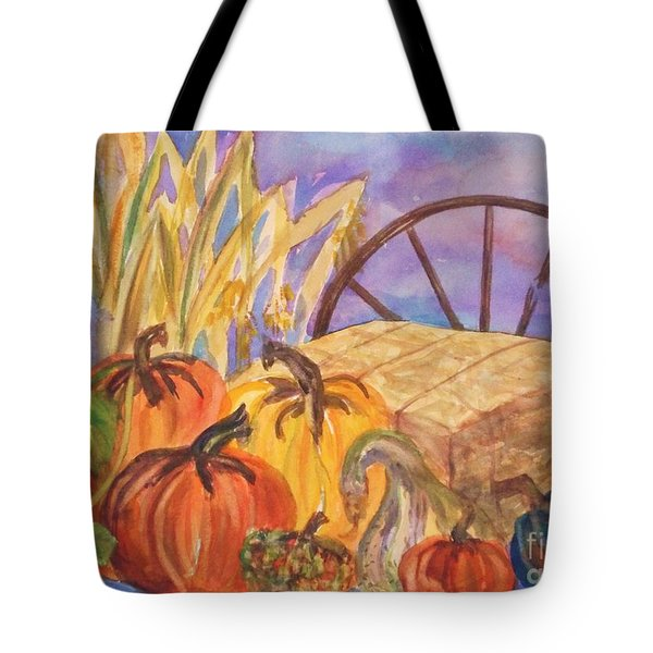 Autumn Bounty Tote Bag by Ellen Levinson