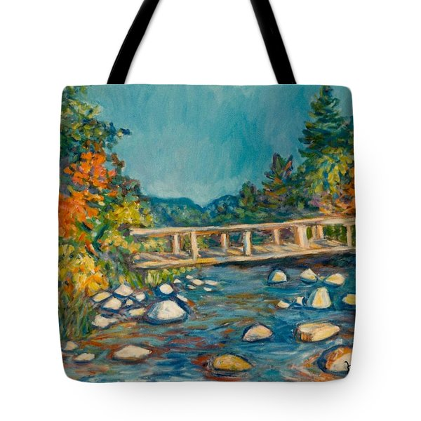 Autumn Bridge Tote Bag by Kendall Kessler