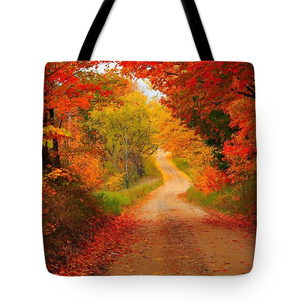 Autumn Cameo Tote Bag by Terri Gostola