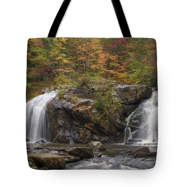 Autumn Cascades Tote Bag by Debra and Dave Vanderlaan