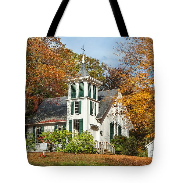 Autumn Church Tote Bag by Bill  Wakeley