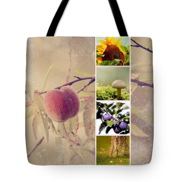 Autumn Collage Tote Bag by Heike Hultsch