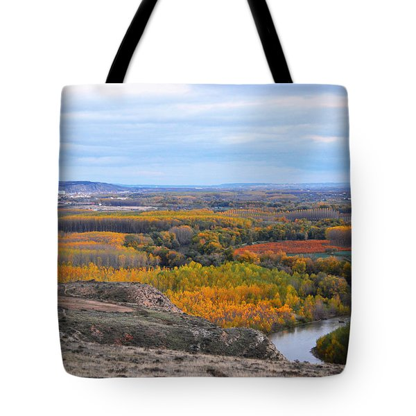 Autumn Colors On The Ebro River Tote Bag by RicardMN Photography