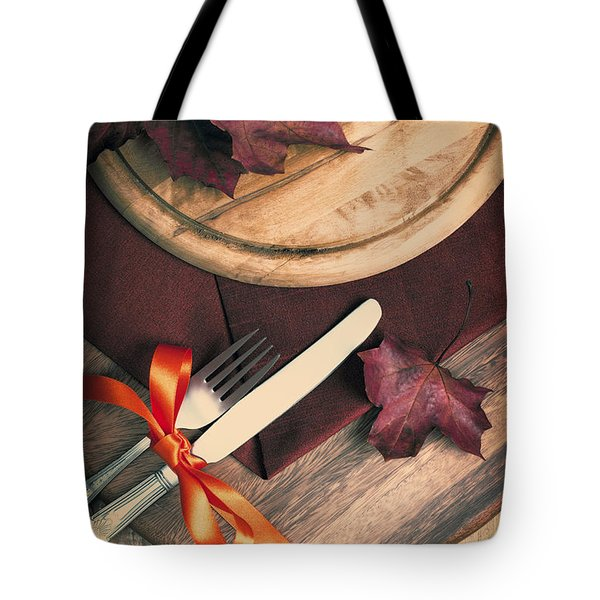 Autumn Dining Tote Bag by Amanda And Christopher Elwell