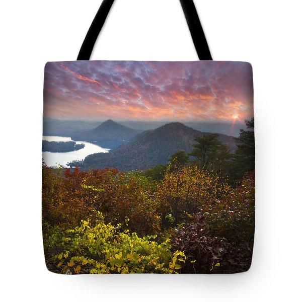 Autumn Evening Star Tote Bag by Debra and Dave Vanderlaan