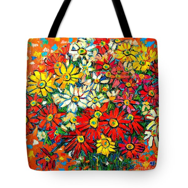 Autumn Flowers Colorful Daisies  Tote Bag by Ana Maria Edulescu