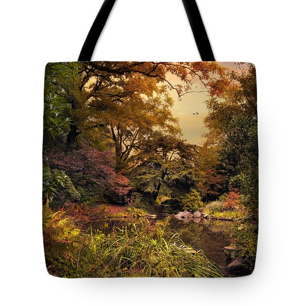 Autumn Garden Sunset Tote Bag by Jessica Jenney