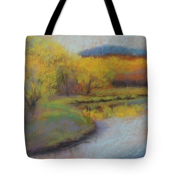 Autumn Glow At Catfish Corner Tote Bag by Sherri Anderson