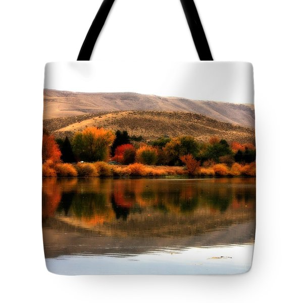 Autumn Glow On The Yakima River Tote Bag by Carol Groenen