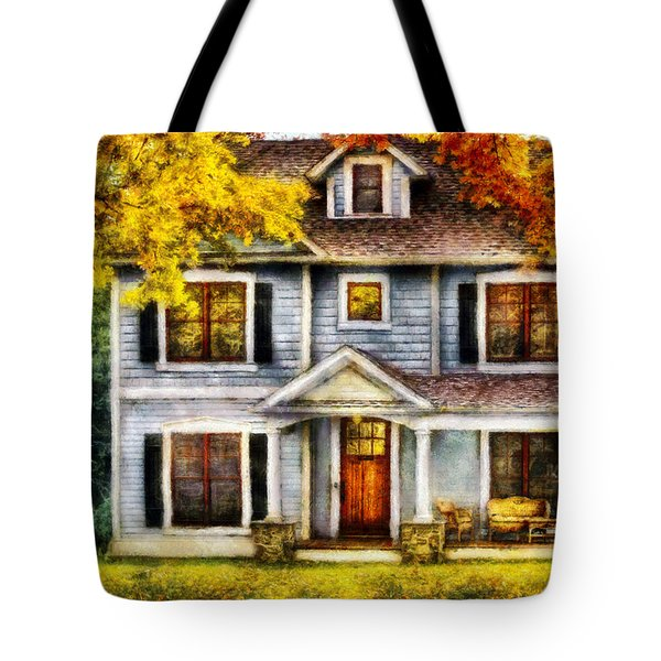 Autumn - House - Cottage  Tote Bag by Mike Savad