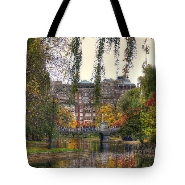 Autumn in Boston Garden Tote Bag by Joann Vitali