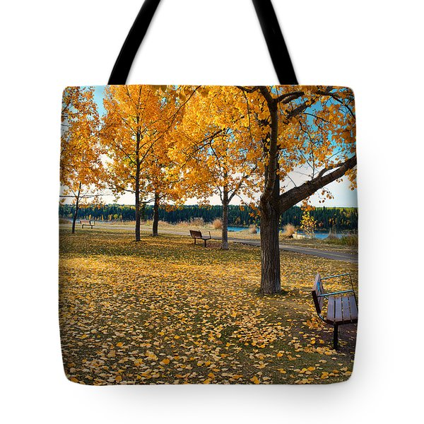 Autumn In Calgary Tote Bag by Trever Miller