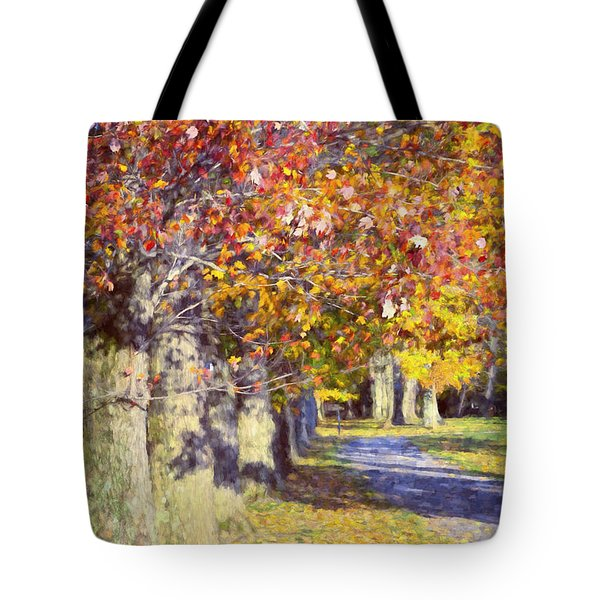Autumn In Hyde Park Tote Bag by Joan Carroll