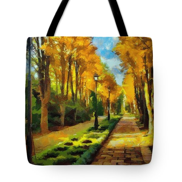 Autumn In Public Gardens Tote Bag by Jeff Kolker