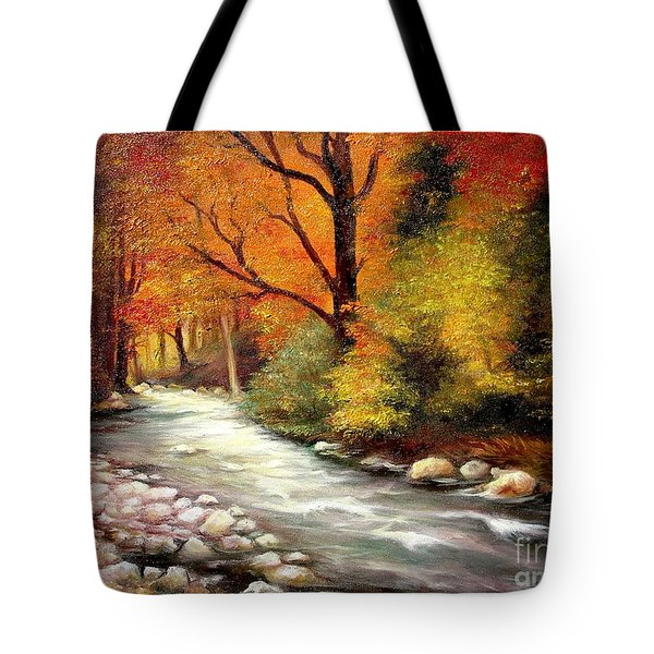 Autumn In The Forest Tote Bag by Sorin Apostolescu