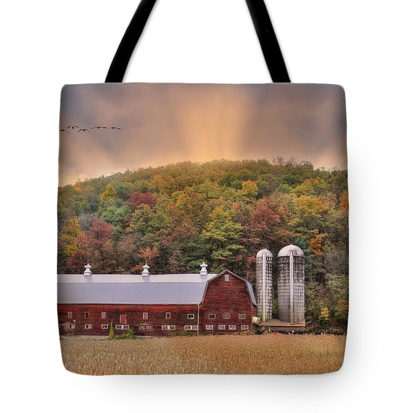 Autumn In Wellsboro Tote Bag by Lori Deiter