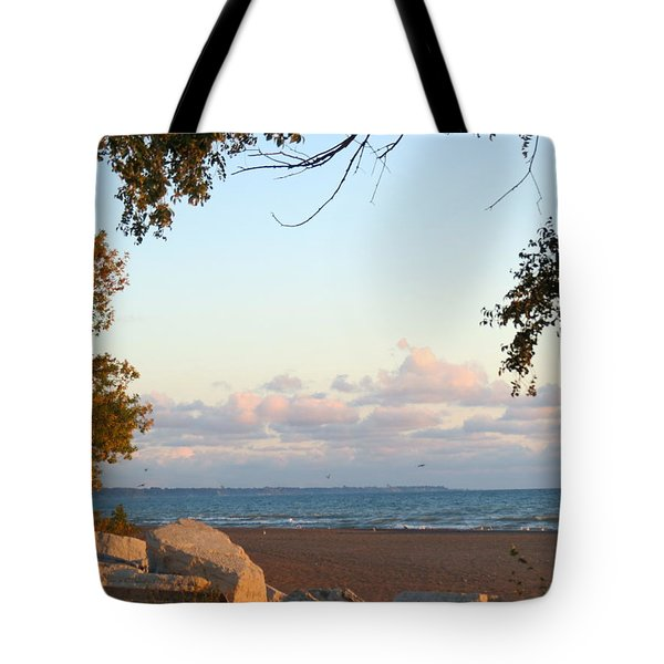 Autumn Lakeside Tote Bag by Kay Novy