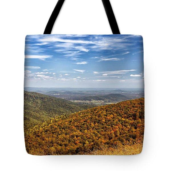 Autumn Layers Tote Bag by Kim Hojnacki