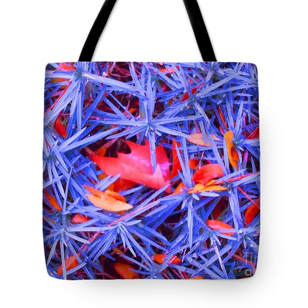 Autumn Leaves Among The Stars Tote Bag by Ann Johndro-Collins