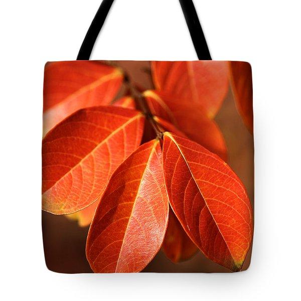 Autumn Leaves Tote Bag by Joy Watson