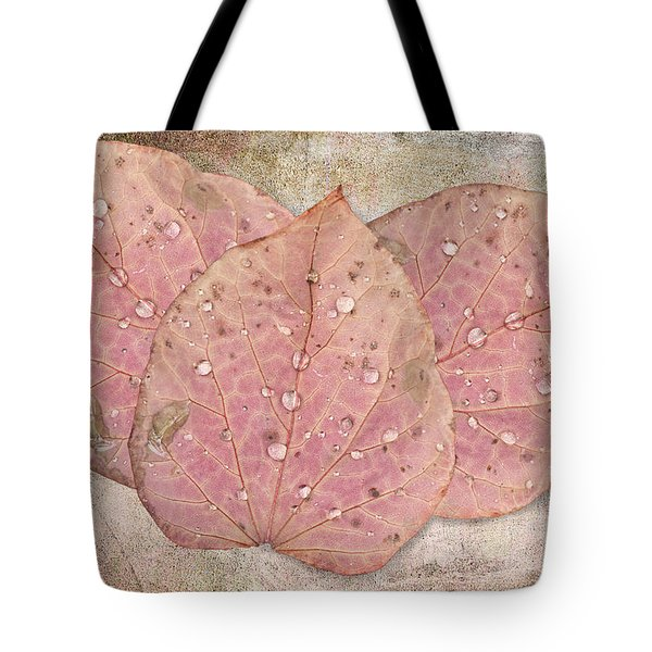 Autumn Leaves With Water Drops  Tote Bag by Angela A Stanton