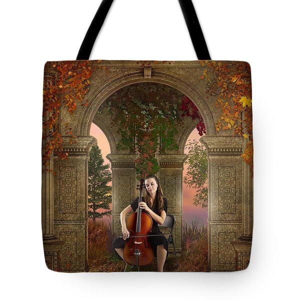 Autumn Melody Tote Bag by Bedros Awak