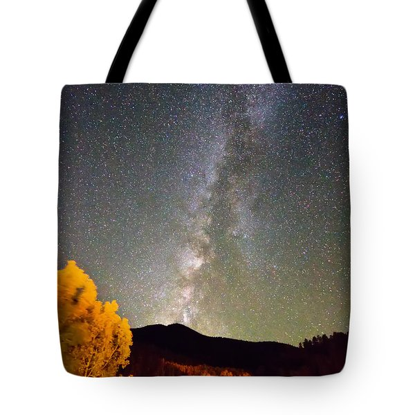 Autumn Milky Way Night Sky  Tote Bag by James BO  Insogna