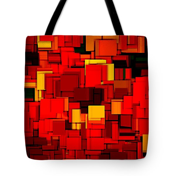 Autumn Modern Abstract XV Tote Bag by Lourry Legarde
