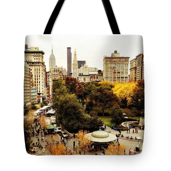 Autumn - New York Tote Bag by Vivienne Gucwa