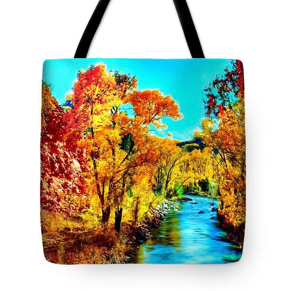 Autumn Oak Creek Sedona Arizona Tote Bag by Bob and Nadine Johnston