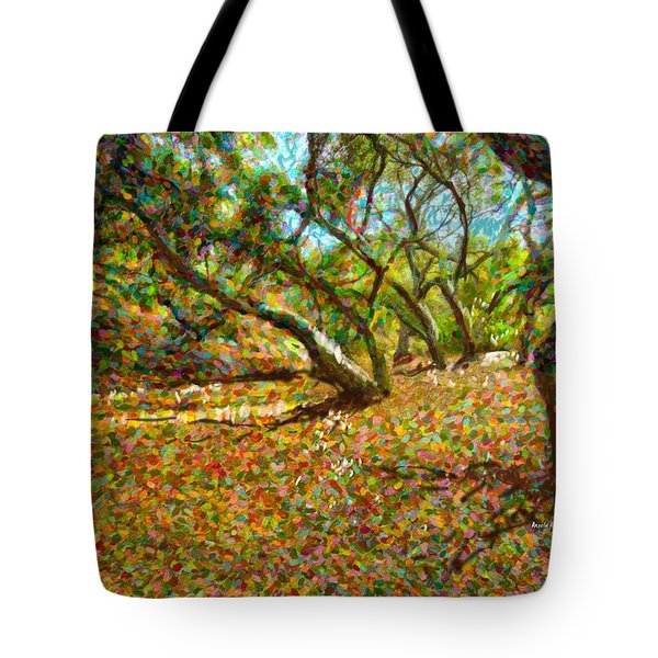Autumn Oak Forest Tote Bag by Angela A Stanton