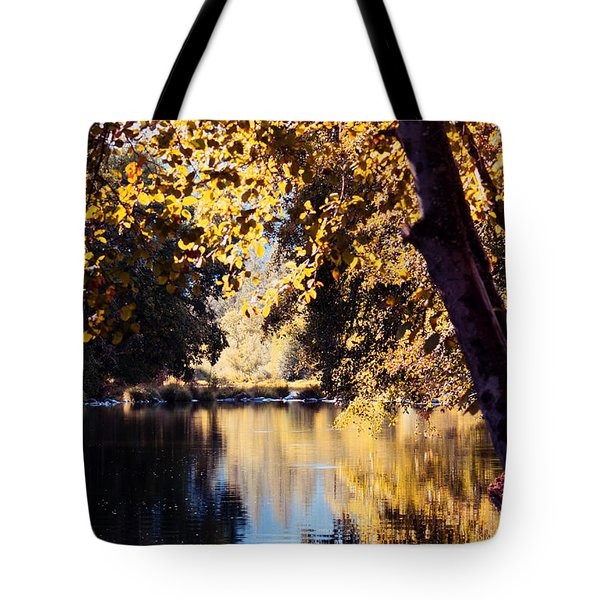 Autumn On The Applegate Tote Bag by Melanie Lankford Photography