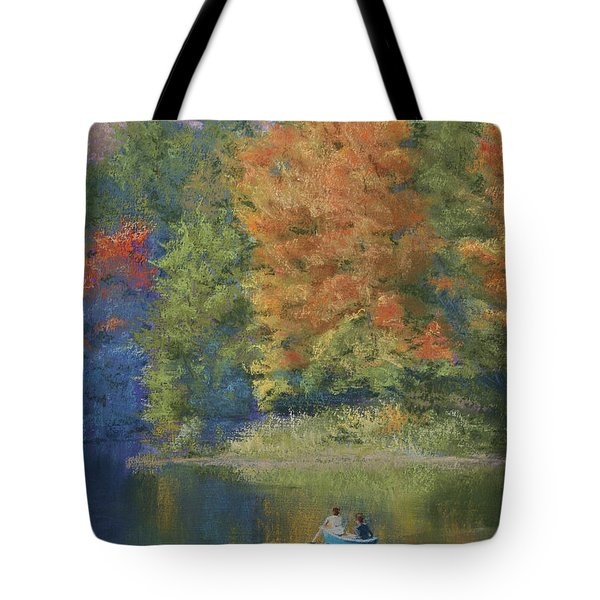 Autumn on the Lake Tote Bag by Marna Edwards Flavell