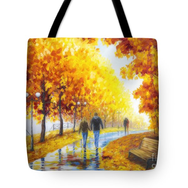 Autumn Parkway Tote Bag by Veikko Suikkanen