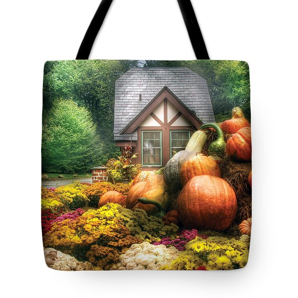 Autumn - Pumpkin - This Years Harvest Was Awesome  Tote Bag by Mike Savad