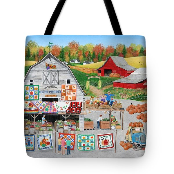 Autumn Quilts Tote Bag by Wilfrido Limvalencia