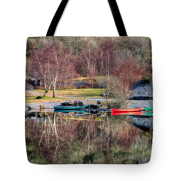 Autumn Reflections Tote Bag by Adrian Evans